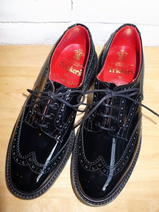 <font color=red>50%OFF</font>【1 piu 1 uguale 3】Trickers BOURTON shoes(ENAMEL-BLACK/BLUE)