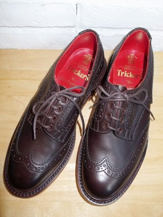 <font color=red>50%OFF</font>【1 piu 1 uguale 3/ウノピュウノウグァーレトレ】Trickers BOURTON shoes(CAFFE/ORANGE)