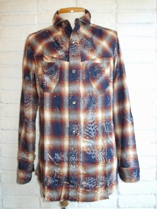 【14th Addiction】FRANCES CHECK SHIRT (BLUE/YELLOW)
