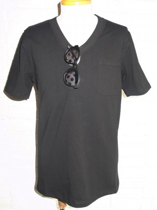 <font color=red>40%OFF</font>【スーパーサンクス】Sunglasses Print Vneck T-Shirt + Sunglasses Set (BLK/DOT)