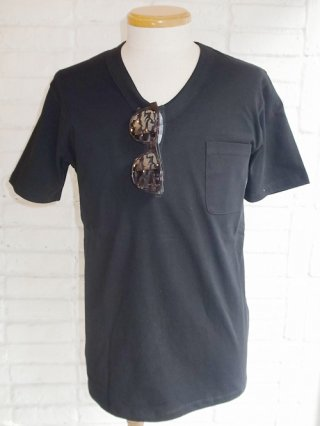 <font color=red>50%OFF</font>【スーパーサンクス】Sunglasses Print Vneck T-Shirt + Sunglasses Set (BLK/ARMY)
