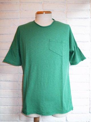 【Iroquois/イロコイ】ラフコット天竺製品洗い T-shirt(GREEN)