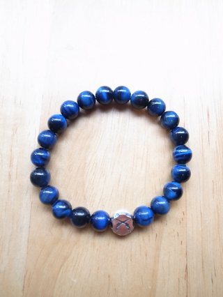 【roar/ロアー】NEMESIS×roar SILVER925×NATURAL STONE BRACELET (BLUE×TIGER EYE)