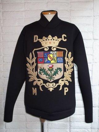 【DRESSCAMP/ドレスキャンプ】エムブレム刺繍ボンディングプルオーバー(BLACK)