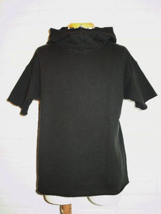 <font color=red>40%OFF</font>【Iroquois/イロコイ】ガーメントダイ×フロスト HOODIE TOPS(BLACK)