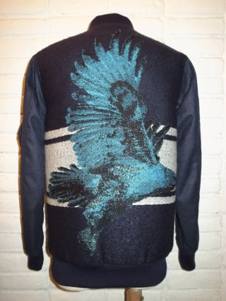 【yoshio kubo/ヨシオクボ】REVERSIBLE EAGLE BLOUSON (NAVY)