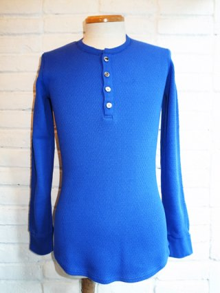 <font color=red>30%OFF</font>【wjk/ダブルジェイケイ】waffle henly long-sleeve (BLUE)