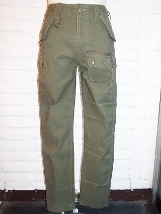 <font color=red>50%OFF</font>【BACKBONE/バックボーン】PARAFIN OILED PIQUE SLIM CARGO PANTS(KHAKI)
