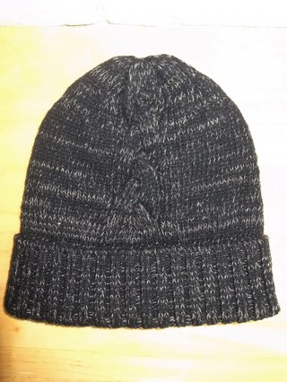 【wjk/ダブルジェイケイ】powder mix knit watch cap(#99 BLACK×GREY)
