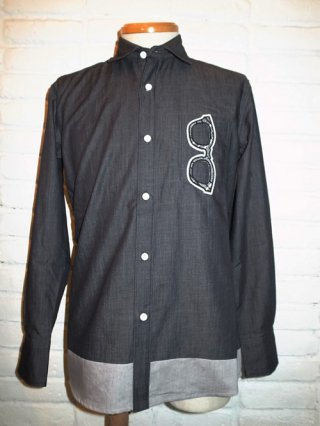 <font color=red>40%OFF</font>【SUPERTHANKS/スーパーサンクス】SUNGLASSES WAPPEN SHIRT (BLACK DENIM/CHECK W)