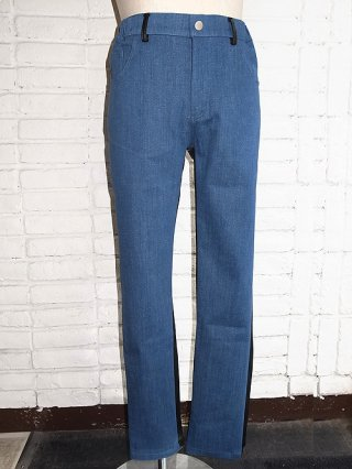 【SUPERTHANKS/スーパーサンクス】BICOLORED PANTS (BLUE DENIM×合皮)