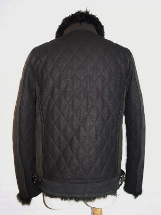 【roar/ロアー】CASHIMERE MOUTON KNIT MELTON THINSULATA QUILT(BLACK)