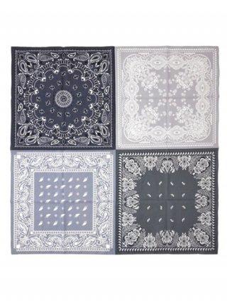 【Iroquois/イロコイ】FEATHER BANDANA スカーフ (BLACK)