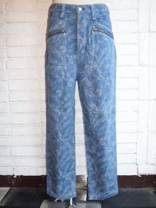 【Iroquois/イロコイ】NATIVE FEATHER JACQUARD DENIM (SID)