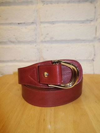 【CRUCE&Co./クルーチェ】Double D ring belt -ROD- (Red)