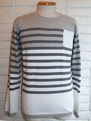 【SUPERTHANKS】BORDER KNIT (GRAY/WHITE/GY B)