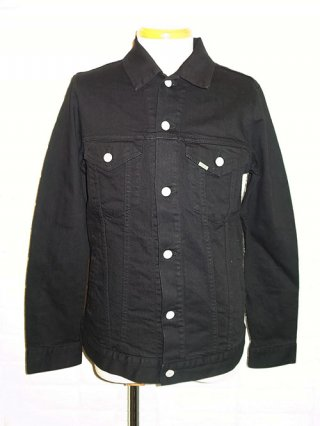 【AKM/エイケイエム】stretch denim 3rd jacket (black)