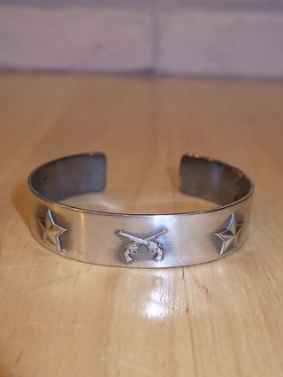 "【roar/ロアー】roar×Nemesis""STAR×CROSS GUN"" BANGLE (SILVER)"