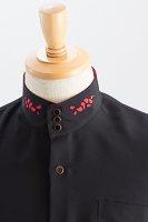 スタンドカラーシャツオープンタイプストライプ