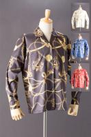 チェーン柄シャツ ビッグサイズ #5046(受注生産モデル)
