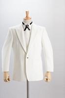ホワイトジャケットシングル1つボタン