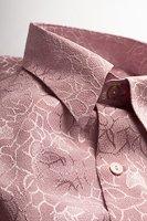 レギュラーカラーシャツ ジャガード #4631 ピンク