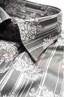 レギュラーカラーシャツ ジャガード #4632 シルバー