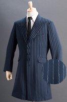 ロングジャケット・Zoot Jacket  ペンシルストライプ ネイビーブルー #0255