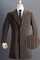 ロングジャケット・Zoot Jacket  ペンシルストライプ ブラウン #0258