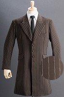 ロングジャケット・Zoot Jacket  ペンシルストライプ ブラウン #0258の画像