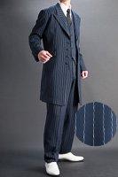 ズートスーツ・zoot suit ペンシルストライプ #0255【ベストセットモデル】 ネイビーブルー