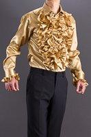 金色フリルシャツ