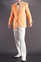 クラッシュ柄 ジャガードジャケット #446 オレンジ