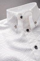 和柄ボタンダウンシャツ #10231 ホワイト