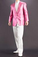 ラメ メタリックジャケット ピンク