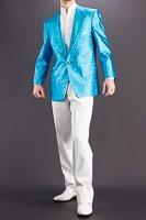 メタリック ラメジャケット #7700 ライトブルー