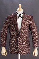 デザインジャケット#756 アラベスク模様 ワインレッド