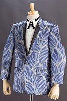 デザインジャケット#756 葉柄 ライトブルー