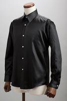 サテンシャツブラック #01