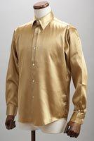 ゴールドサテンシャツ