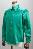サテンシャツグリーン #21