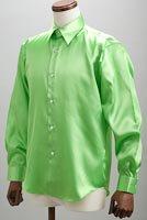サテンシャツアップルグリーン #23
