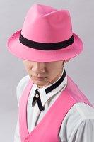 ピンク色ハット