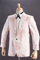 バラ織柄ジャケット #518 ローズピンク