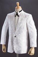 バラ織柄ジャケット #518 ホワイト