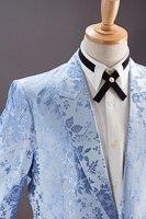 バラ織柄ジャケット #518 ライトブルー