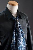 スカーフタイ リング付 ブルー