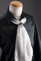 スカーフタイ リング付 ホワイト #7406