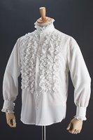 フリルシャツスタンドカラー 6連ホワイト