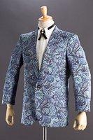 ペイズリー柄ジャケット #519 ブルー